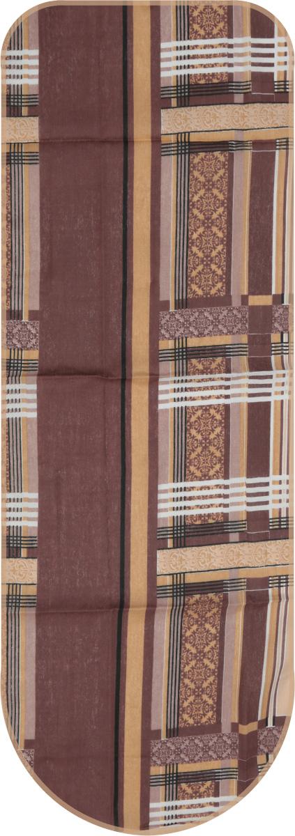 """Чехол для гладильной доски """"Detalle"""", универсальный, цвет: коричневый, 125 х 47 см"""