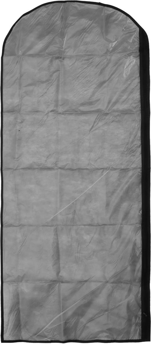 Чехол для одежды Eva, цвет: серый, 65 х 150 смЕ171_серыйЧехол для одежды Eva изготовлен из высококачественного полипропилена и полиэтилена. Особое строение полотна создает естественную вентиляцию: материал дышит и позволяет воздуху свободно проникать внутрь чехла, не пропуская пыль. Благодаря форме чехла, одежда не мнется даже при длительном хранении. Застегивается на молнию.Чехол для одежды будет очень полезен при транспортировке вещей на близкие и дальние расстояния, при длительном хранении сезонной одежды, а также при ежедневном хранении вещей из деликатных тканей. Чехол для одежды не только защитит ваши вещи от пыли и влаги, но и поможет доставить одежду на любое мероприятие в идеальном состоянии.