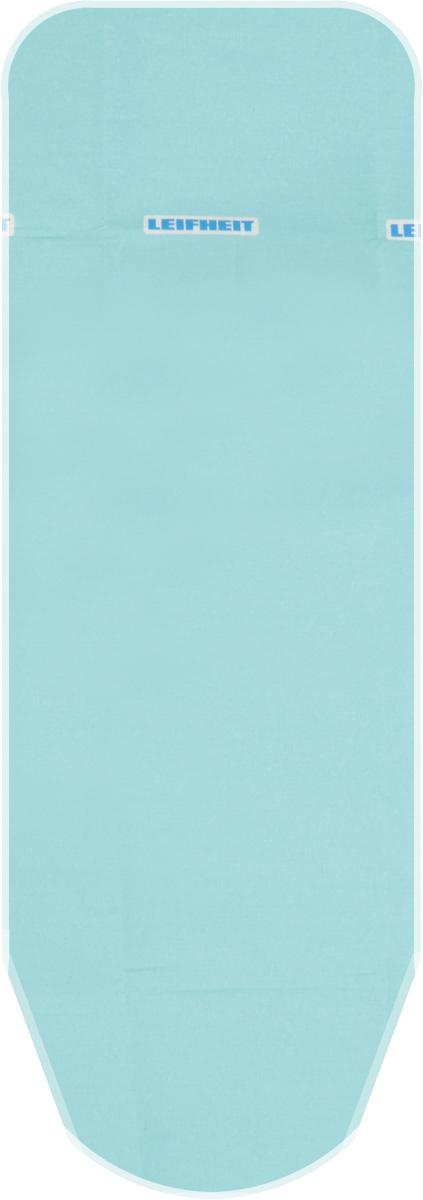 """Чехол для гладильной доски Leifheit """"Cotton Classic M"""", на защелке, с поролоном, цвет: бирюзовый, 125 х 38 см. 72321"""