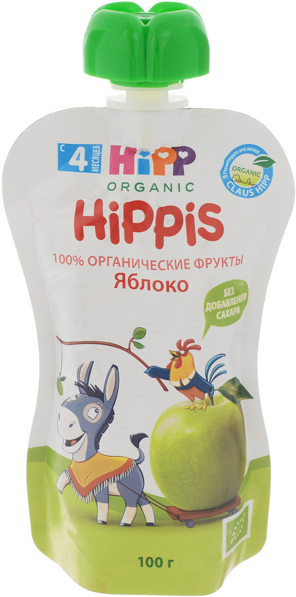 Hipp пюре яблоко, с 4 месяцев, 100 г9062300133322Продукт детского питания для детей раннего возраста, продукт прикорма - пюре фруктовое, протертое, пастеризованное.Рекомендуется для полдника, на десерт, можно добавлять в кашу. Компоненты содержат природные сахариды.Уважаемые клиенты! Обращаем ваше внимание на то, что упаковка может иметь несколько видов дизайна. Поставка осуществляется в зависимости от наличия на складе.