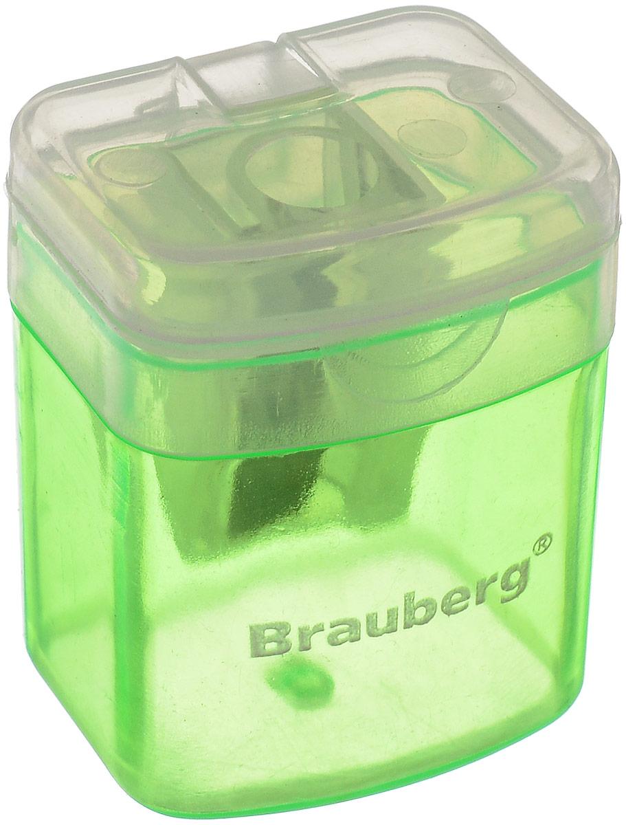 Brauberg Точилка OfficeBox с контейнером цвет зеленый222494_зеленыйТочилка Brauberg OfficeBox выполнена с контейнером. Качественное стальное лезвие обеспечивает лёгкое равномерное затачивание карандашей. Контейнер для стружки изготовлен из тонированного цветного пластика.