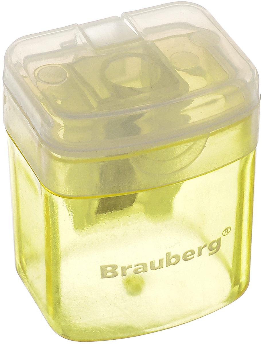Brauberg Точилка OfficeBox с контейнером цвет желтый222494_желтыйТочилка Brauberg OfficeBox выполнена с контейнером. Качественное стальное лезвие обеспечивает лёгкое равномерное затачивание карандашей. Контейнер для стружки изготовлен из тонированного цветного пластика.
