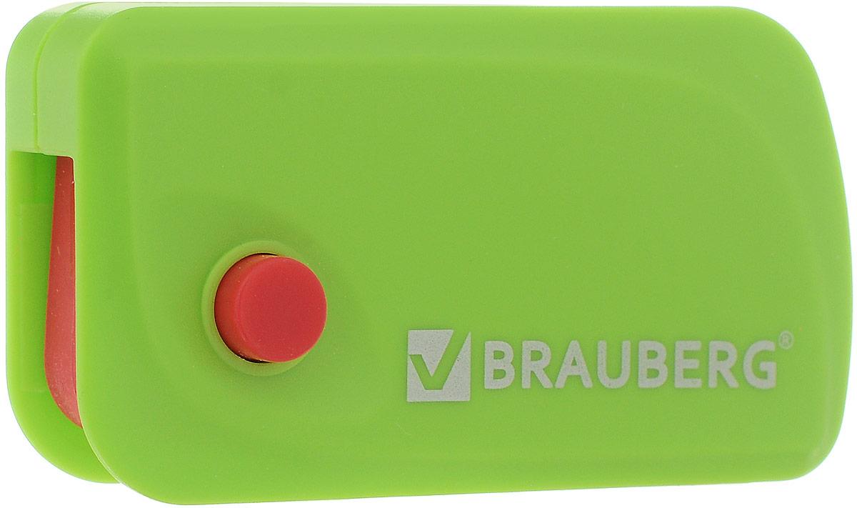 Brauberg Ластик Delta цвет салатовый красный72523WDЭксклюзивный ластик Brauberg Delta выполнен в пластиковом корпусе с резиновой кнопкой и выкидным механизмом. Резинка обеспечивает лёгкое и чистое стирание без повреждения поверхности бумаги и без образования бумажной пыли. Корпус имеет отверстие для ношения на шнурке.