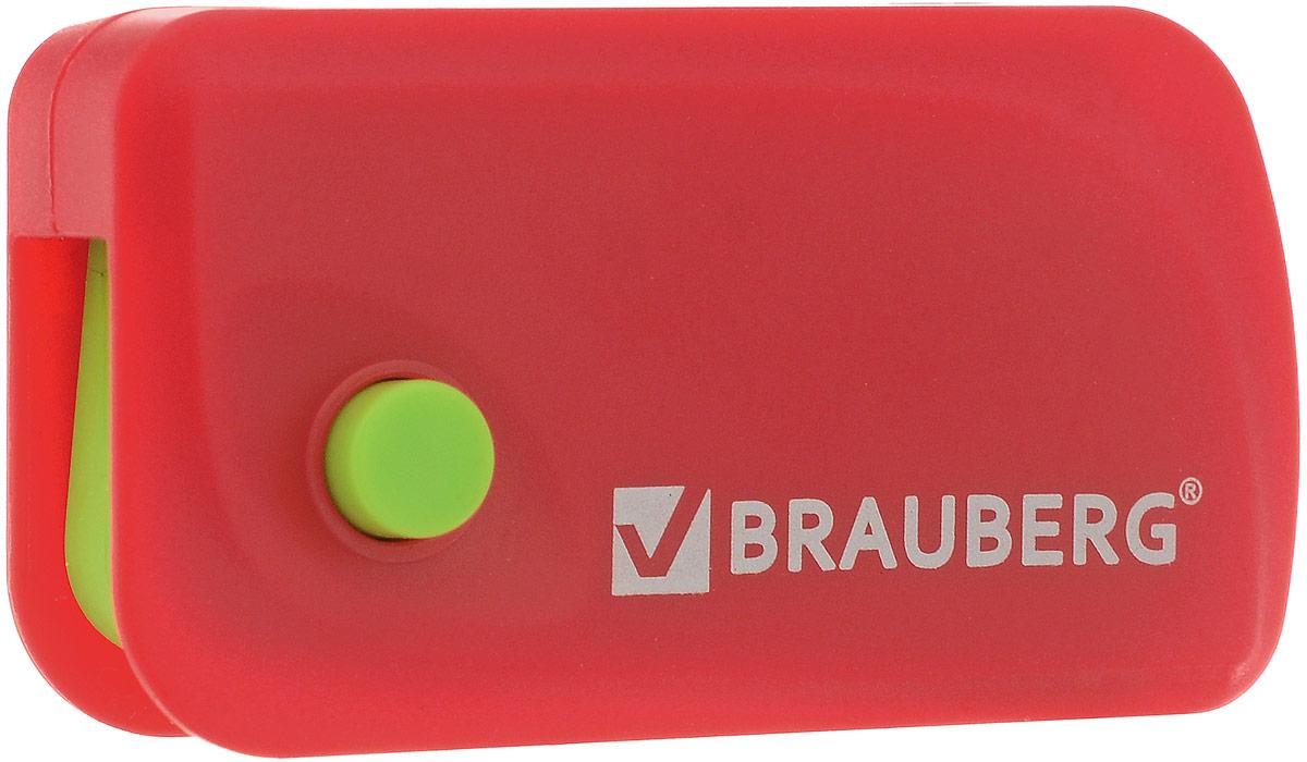 Brauberg Ластик Delta цвет красный салатовый0013801Эксклюзивный ластик Brauberg Delta выполнен в пластиковом корпусе с резиновой кнопкой и выкидным механизмом. Резинка обеспечивает лёгкое и чистое стирание без повреждения поверхности бумаги и без образования бумажной пыли. Корпус имеет отверстие для ношения на шнурке.