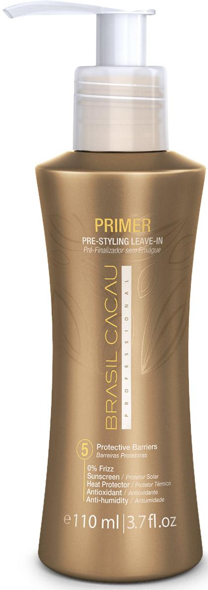 Brasil Cacau Праймер, 110 мл12383Омолаживающее воздействие,защита от УФ, сильная термозащита, способствует сохранению структуры, уплотняет кутикулу, формирует защитную пленку. Защищает Ваши волосы от разрушительного воздействия термических приборов для укладки, способствует сохранению прямой структуры и сохраняет форму прически при повышенной влажности.