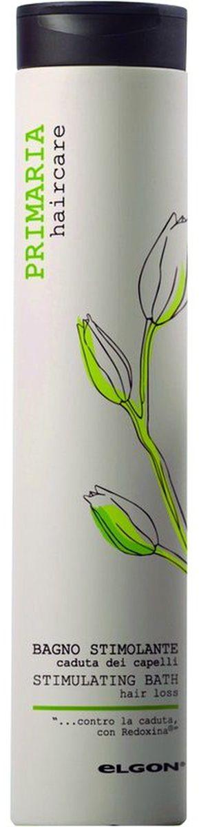 Elgon Primaria Шампунь против выпадения волос Stimulating Bath, 250 мл0703140250AШампунь против выпадения волос содержит пантенол, коллаген, ниацинамид (витамин В3), кератиновые аминокислоты, микроэлементы и антиоксиданты. Восстанавливает и стимулирует биосинтез кератина в волосяных фолликулах. Ускоряет рост волос и увеличивает их количество. Защищает корни волос от негативных факторов окружающей среды. Идеальный шампунь в комплексной терапии различных видов выпадения волос.