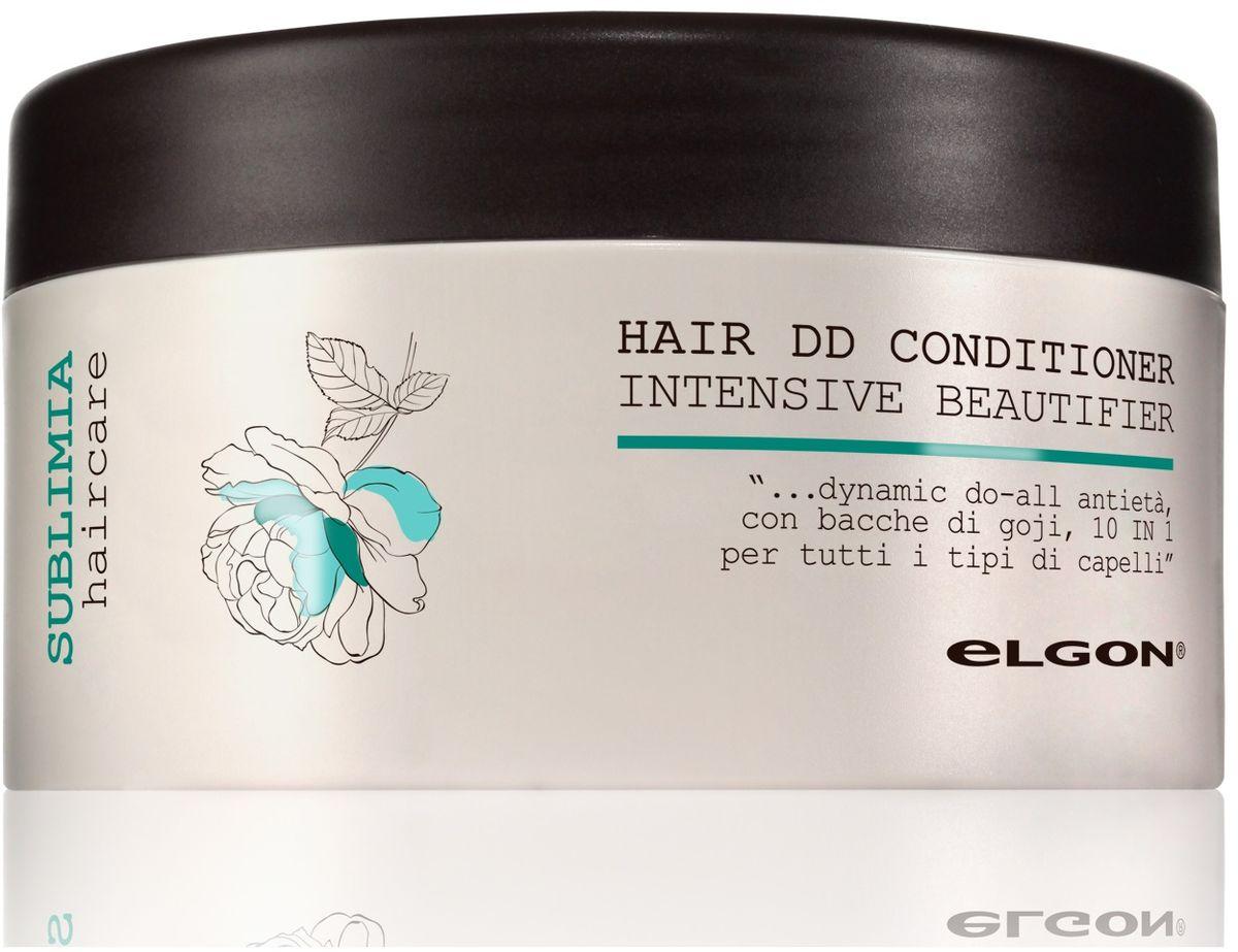 Elgon Sublimia Кондиционер интенсивный для всех типов волос 10 в 1, 250 мл1067010250Инновационный anti-age кондиционер 10 в 1 для всех типов волос. Содержит масла арганы и японской камелии, комплекс аминокислот, экстракт аспалатуса и ягод годжи. Делает волосы гладкими и блестящими, усиливает блеск, эластичность и упругость. Защищает волосы от механических и термических повреждений. Блокирует негативное действие агрессивных факторов окружающей среды, в том числе свободных радикалов, предупреждая изнашиваемость и ломкость волос. Восстанавливает кератиновую структуру волос. Облегчает расчесывание и укладку, делая волосы более послушными. Подходит для окрашенных волос.