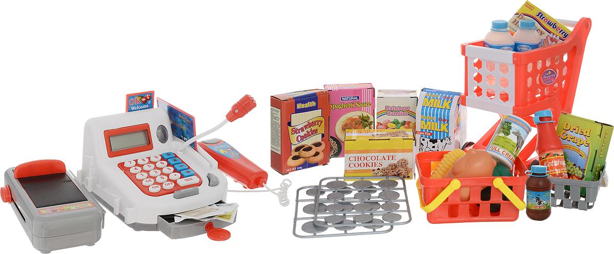 Shantou Gepai Игровой набор Моя касса с продуктами и тележкой