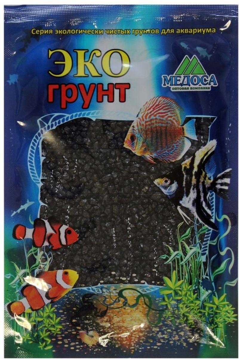 Грунт для аквариума ЭКОгрунт, мраморная крошка, цвет: черный, 2-5 мм, 1 кг500025