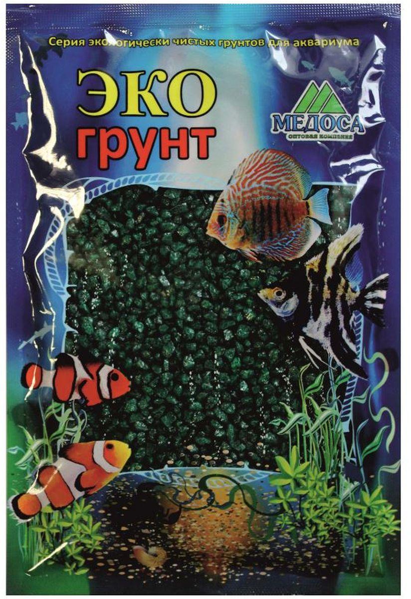 Грунт для аквариума ЭКОгрунт, мраморная крошка, цвет: изумрудный, 2-5 мм, 1 кг500032