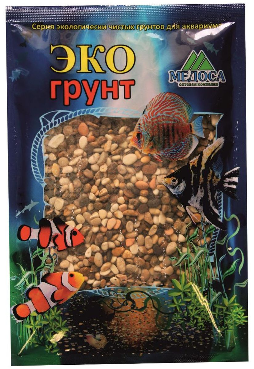Грунт для аквариума ЭКОгрунт Реликтовая №2, галька, 4-8 мм, 3,5 кгг-0335