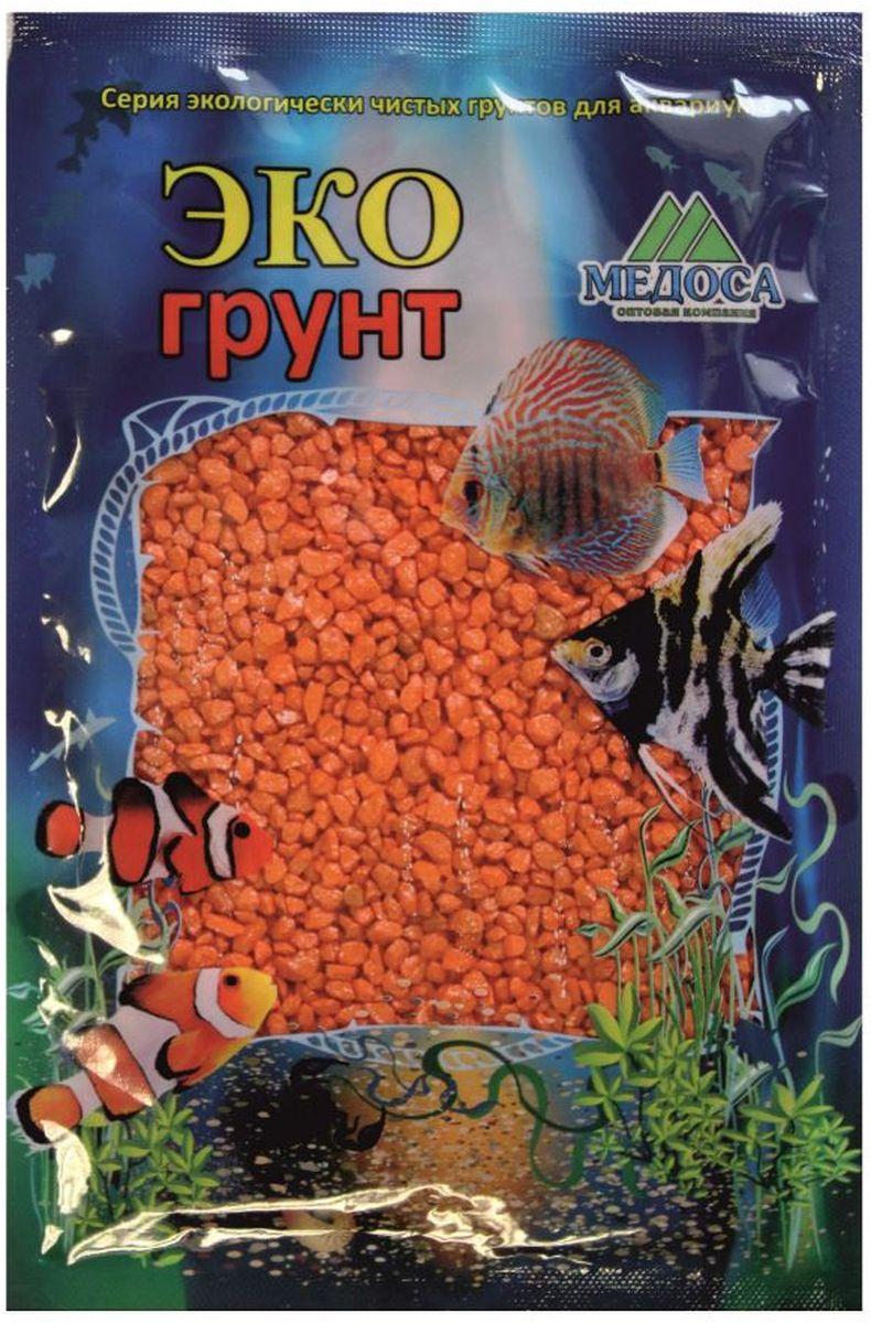 Грунт для аквариума ЭКОгрунт, мраморная крошка, цвет: оранжевый, 2-5 мм, 3,5 кгг-1004