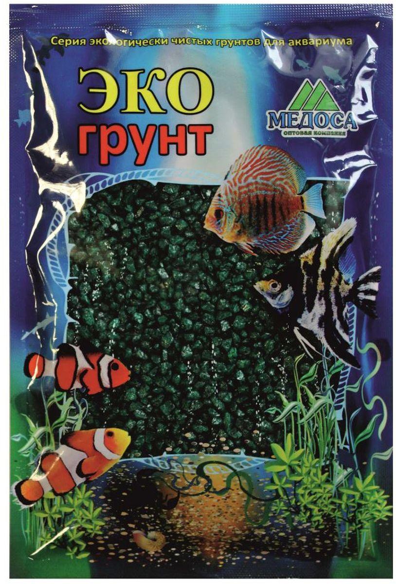 Грунт для аквариума ЭКОгрунт, мраморная крошка, цвет: изумрудный, 2-5 мм, 3,5 кгг-1008