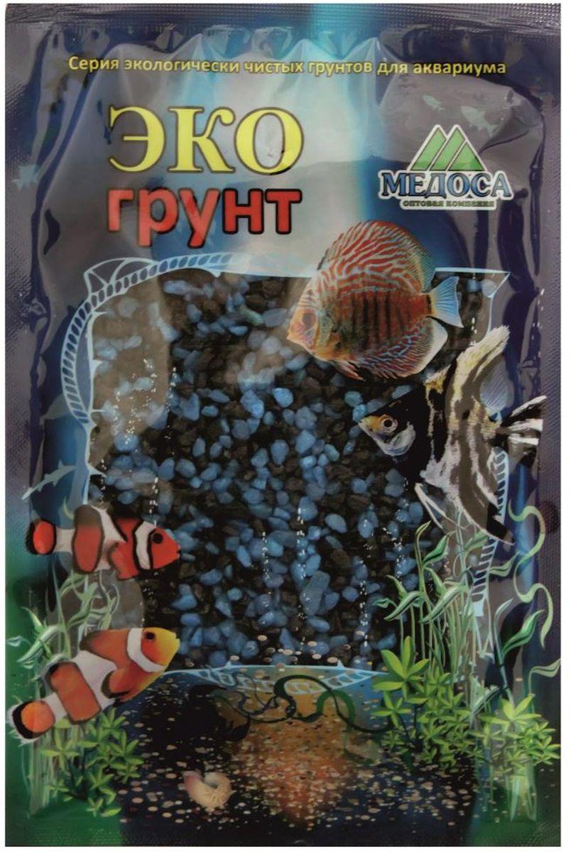 Грунт для аквариума ЭКОгрунт, мраморная крошка, цвет: черный, голубой, 2-5 мм, 3,5 кгг-1014