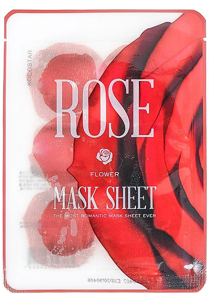 Kocostar Маска-слайс для лица Роза, 20 мл20-0018Оригинальная маска-слайс для лица в виде лепестков Розы омолаживает кожу, делая ее более упругой и эластичной. Экстракт столистной Розы является очень мощным компонентом в борьбе со старением, сокращая мимические морщины и повышая тургор эпидермиса. Экстракт Портулака борется с воспалениями на коже. Маска подходит для всех типов кожи.