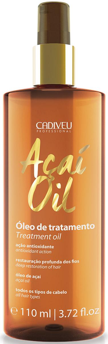 Cadiveu Масло Асаи Acai Oil, 110 мл12369Масло имеет легкую, нежирную консистенцию, легко впитывается, не оставляя следов. Масло питает, увлажняет, уплотняет, восстанавливает секущиеся кончики волос, защищает от вредного воздействия солнечных лучей, ветра, повышенной влажности, термических приборов для укладки. Волосы становятся шелковистыми, мягкими и блестящими. Предотвращается старение волос. Масло асаи содержит в 10 раз больше антиоксидантов по сравнению с другими маслами — это настоящий эликсир для волос!