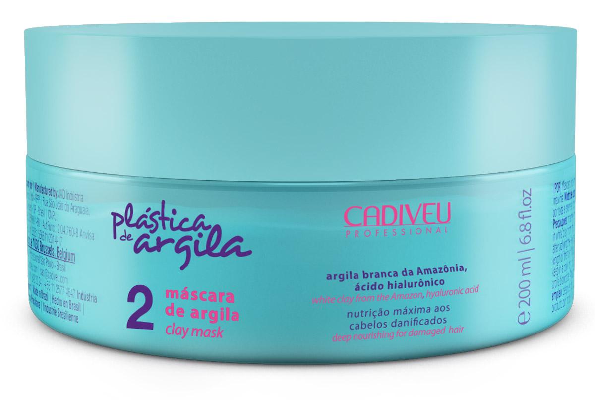 Cadiveu Маска Plastica de Argila - Clay Mask 200 мл65414191Глиняная маска. Способствует укреплению волос, восстанавливает внутреннюю структуру волос, возвращает эластичность, мягкость и блеск.