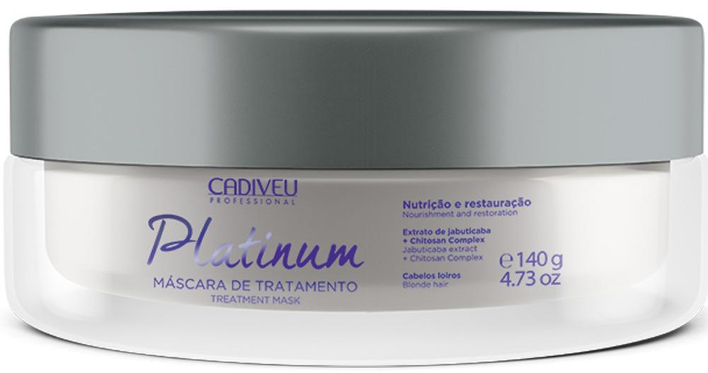 Cadiveu Маска-домашний уход Platinum, 140 мл21078Интенсивно питает и защищает волосы, восстанавливает повреждения, нанесенные в результате обесцвечивания волос, предотвращает смывание цвета, делает волосы более мягкими и шелковистыми, придает блеск.
