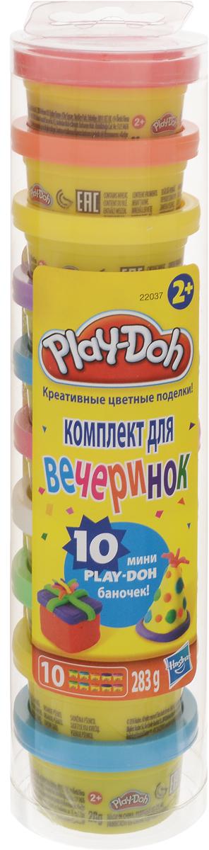 Play-Doh Набор для лепки Для вечеринок22037Если ребенок тянется к творчеству и предпочитает проводить досуг за тихими спокойными созидательными занятиями, то набор разноцветного пластилина - это именно то, что нужно для развития его креативности и нестандартного мышления.Разнообразие и яркость цветов данного набора помогут ребенку проявлять свои творческие способности, не ограничивая его фантазию и воображение.Пластилин из этого набора абсолютно безопасен, приятен на ощупь, легко лепится и не пристает к рукам.