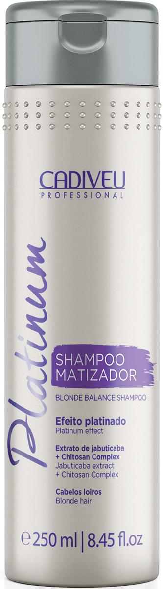Cadiveu Тонирующий шампунь-домашний уход Platinum Home Blonde Balance Shampoo 250 мл12571Шампунь для тонирования волос. Использовать 1 раз в неделю! Очищает и создает естественный платиновый оттенок и блеск для светлых и окрашенных волос.