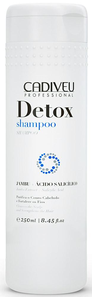 Cadiveu Шампунь Detox, 250 мл32465695Шампунь с салициловой кислотой и экстрактом Джамбу идеально подходит для устранения чрезмерной жирности и шелушения кожи головы, вызванных химической агрессией или воздействием внешней среды.