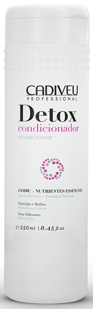 Cadiveu Кондиционер Detox, 250 мл12413Насыщает структуру волос полезными веществами, способствует обновлению клеток кожи головы, стимулирует рост волос, питает и защищает волосы по всей длине. В состав входят витамины, протеины, комплекс питательных веществ и экстракт Джамбу, который обладает ярко выраженным антиоксидантным свойством.