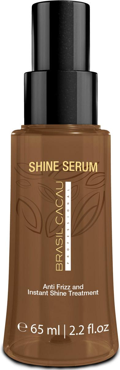 Brasil Cacau Сыворотка Shine Serum, 65 млPA0030В сыворотке Brasil Cacau Shine Serum идеальное сочетание ингредиентов, которые образуют пленку на волосах. Сыворотка питает волосы и придает мгновенный блеск. Можно использовать как на сухие, так и на влажные волосы.Результат после использования : гладкие и шелковистые волосы великолепный блеск анти-фриз эффект без утяжеления и склеивания эффективная термозащита увлажнение волос УФ-защита