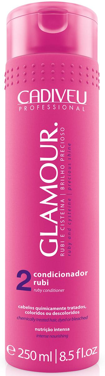 Cadiveu Кондиционер Glamour - Ruby Conditioner, 250 мл65500636Лечебный кондиционер, который увлажняет, питает, восстанавливает, распрямляет волосы. Рубиновая пудра придает мерцающий эффект волосам