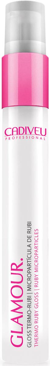 Cadiveu Термозащита волос Рубиновый блеск Glamour - Thermo Ruby Gloss, 30 мл09034280Cредство для термозащиты Glamour Plus создает защитный слой против негативного воздействия фена, щипцов или термобигуди..