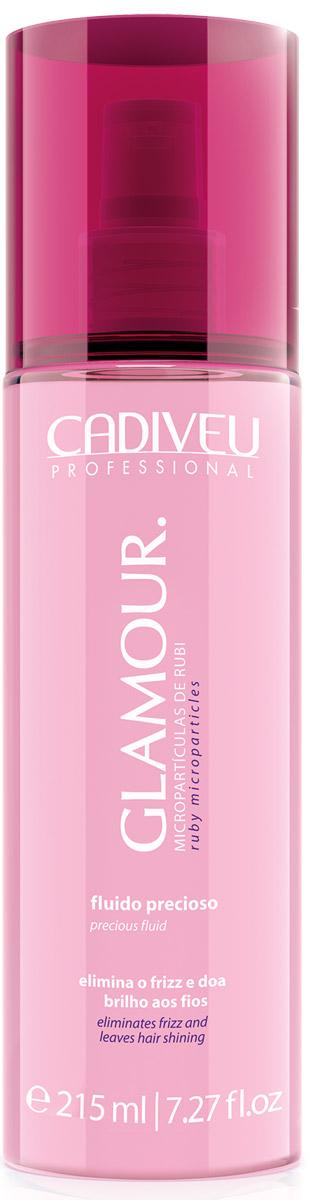 Cadiveu Флюид Glamour - Precious Fluid, 215 мл12359Используется для устранения пушистости волос. Микрочастицы драгоценного рубина в его составе придают сияние и создают роскошный блеск. Легкая несмываемая формула флюида, богатая аминокислотами, протеинами и пантенолом позволяет использовать его каждый день перед укладкой. Не смываемый уход.