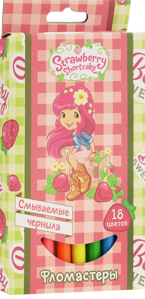Action! Набор фломастеров Strawberry Shortcake Клубника 18 цветовSW-AWP105-18 - розовый, клубникаФломастеры Action! Strawberry Shortcake Клубника, предназначенные для художественно-оформительских работ, обязательно порадуют вашего юного художника и помогут создать ему неповторимые и яркие картинки.Набор включает в себя 18 фломастеров ярких насыщенных цветов. Специальные чернила на водной основе легко смываются с кожи и удаляются с большинства тканей. Корпус фломастеров изготовлен из полипропилена, а вентилируемый колпачок увеличивает срок службы чернил и предотвращает их преждевременное высыхание.Рекомендуемый возраст: от 3 лет.