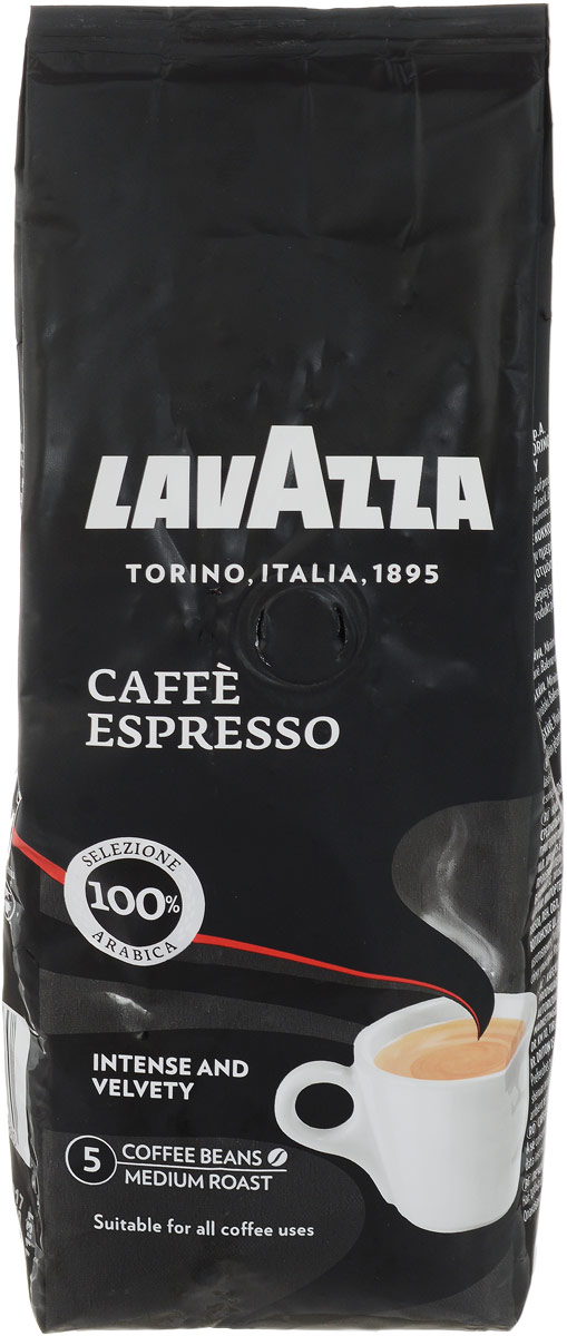 Lavazza Caffe Espresso кофе в зернах, 250 г1886Lavazza Caffe Espresso - смесь тщательно подобранных зерен 100% Арабики с лучших плантаций Центральной Америки и Африки. Равномерная обжарка зерен позволяет достичь непревзойденного тонкого аромата и полного гармоничного вкуса.Уважаемые клиенты! Обращаем ваше внимание на то, что упаковка может иметь несколько видов дизайна. Поставка осуществляется в зависимости от наличия на складе.