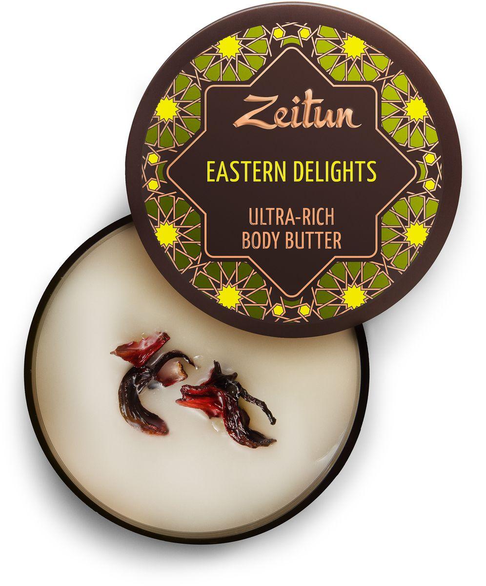 Зейтун Крем-масло для тела Восточные сладости, интенсивное питание, 200 млZ4035Пестрые, манящие, аппетитные сладости Востока – это блаженное удовольствие, которое из благоухающих арабских базаров просочилась в питательный крем для тела с удивительно насыщенной масляной текстурой. Его свойства и сладостный аромат медовой пахлавы покорят вас с первого открытия драгоценной баночки и навсегда влюбят вас в ориентальную ароматерапию.Баттер содержит лучшее масло для тела – ши (карите). Оно помогает справится с недостатком питательных веществ во всех слоях дермы и эпидермиса, а также обеспечивает комфортное и приятное нанесение баттера.