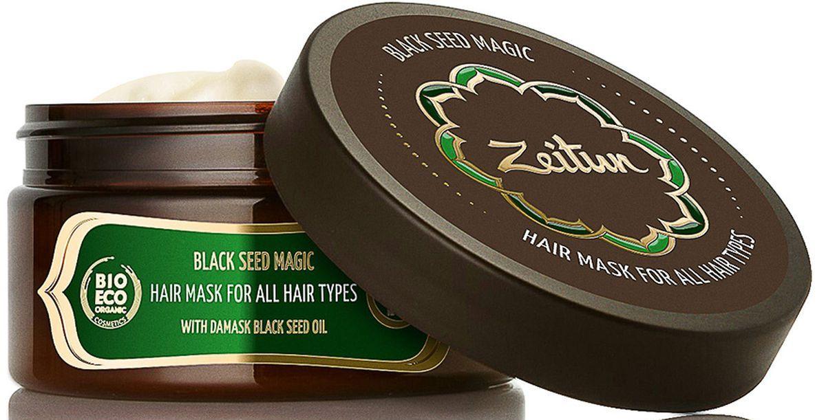 Зейтун Многофункциональная маска Магия черного тмина для всех типов волос, с маслом дамасского черного тмина, 200 млZ4311Непревзойденная польза масла черного тмина для ослабленных и выпадающих волос известна со времен персидского лекаря Авиценны. В этом эликсире красоты содержится комплекс жизненно необходимых микроэлементов и витаминов, которые оздоравливают кожу головы, укрепляют волосяные фолликулы и локоны по всей длине. Эффективная маска Зейтун от выпадения волос Магия черного тмина вобрала в себя лучшие свойства этого чудодейственного компонента: она комплексно восстанавливает и укрепляет, останавливая даже самую обильную потерю волос.