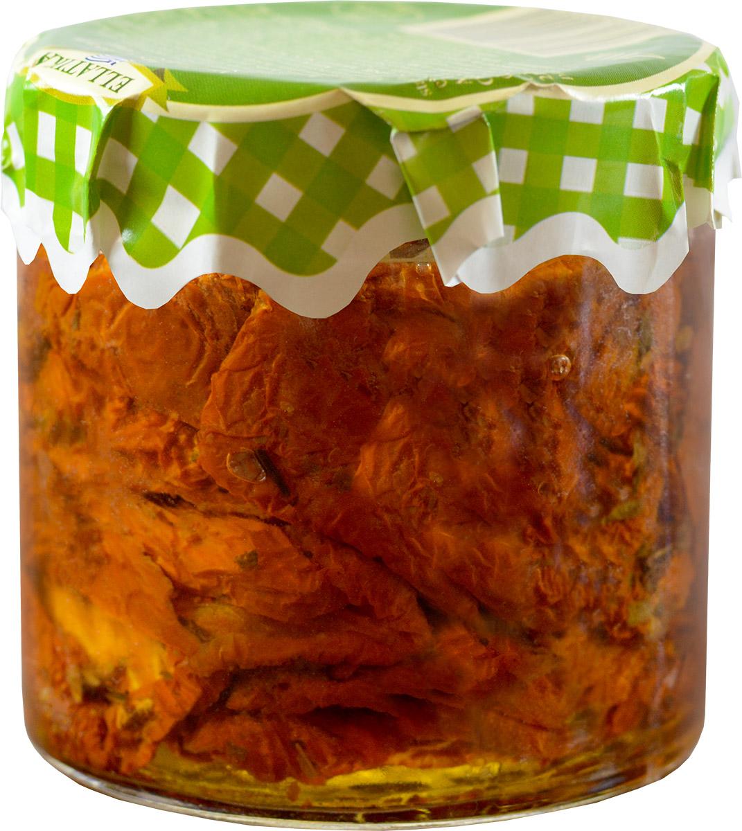 Ellatika вяленые томаты в масле, 210 г100217000868Холодные и горячие закуски - это небольшие и легкие блюда, которые подаются в средиземноморском регионе как аперитив. Такие закуски также хорошо подойдут к напиткам, добавляя им особенный вкус.Эти блюда, со свежими и натуральными ингредиентами подаются на средиземноморский стол уже в течение нескольких поколений и являются традиционными. Свежие салаты, фаршированные виноградные листья, жаренные на огне сладкие перцы, вяленные помидоры, сочные соусы, пирожки из шпината и маринованные овощи вместе на одном столе.
