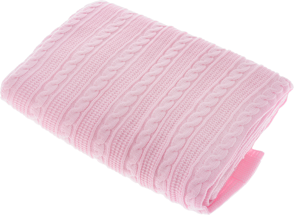 Плед Apolena Plait, цвет: розовый, 130 х 180 смД Дачно-Деревенский 20Вязаный плед Apolena Plait выполнен из мягкой объемной пряжи (100% акрил) с модным рисунком косичка. Такой плед пригодится в любое время года. Удобство, комфорт, стиль и экологичность в одном предмете.Плед является отличным подарком, ведь он будет всегда актуален, особенно для ваших родных и близких, ведь вы дарите им частичку своего тепла!