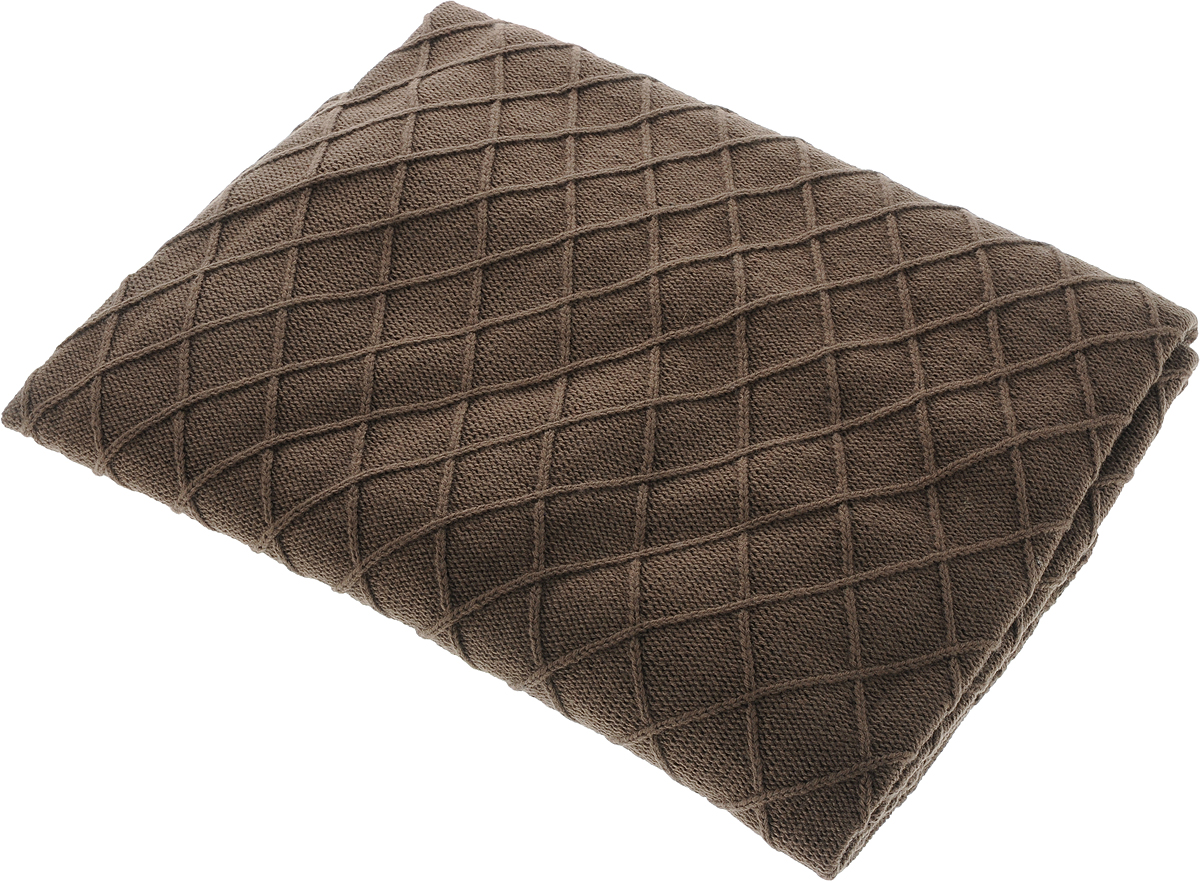 Плед Apolena Rhomb, цвет: коричневый, 130 х 180 смFA-5125 WhiteВязаный плед Apolena Rhomb выполнен из мягкой объемной пряжи (100% акрил) с модным рисунком ромб. Такой плед пригодится в любое время года. Удобство, комфорт, стиль и экологичность в одном предмете.Плед является отличным подарком, ведь он будет всегда актуален, особенно для ваших родных и близких, ведь вы дарите им частичку своего тепла!