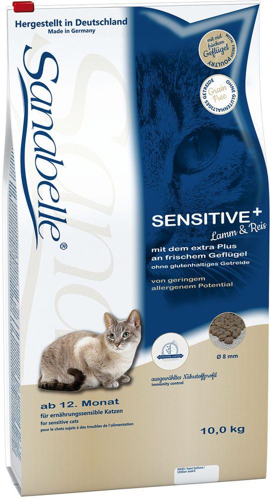 Корм сухой Sanabelle Sensitive для взрослых кошек с чувствительным пищеварением, с ягненком, 10 кг57838Сухой корм Санабелль Сенситив с Ягненком был специально разработан для кошек с чувствительным желудком и привередливых животных, которые едят нерегулярно или совсем отказываются от пищиБлагодаря своему сбалансированному составу, корм для кошек Санабелль Сенситив с Ягненком очень легко усваивается и имеет превосходный вкусЭтот корм имеет высокую энергоемкость, которая отлично возмещает энергозатраты активных кошек, даже в случае небольшой суточной нормы кормления. В сухом корме Бош Санабелль Сенситив с Ягненком содержится оптимальное количество протеина, жира и минеральных веществ