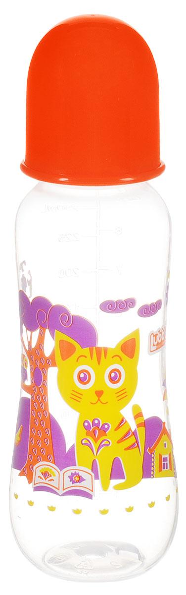 Lubby Бутылочка для кормления Русские мотивы от 0 месяцев цвет оранжевый 250 мл