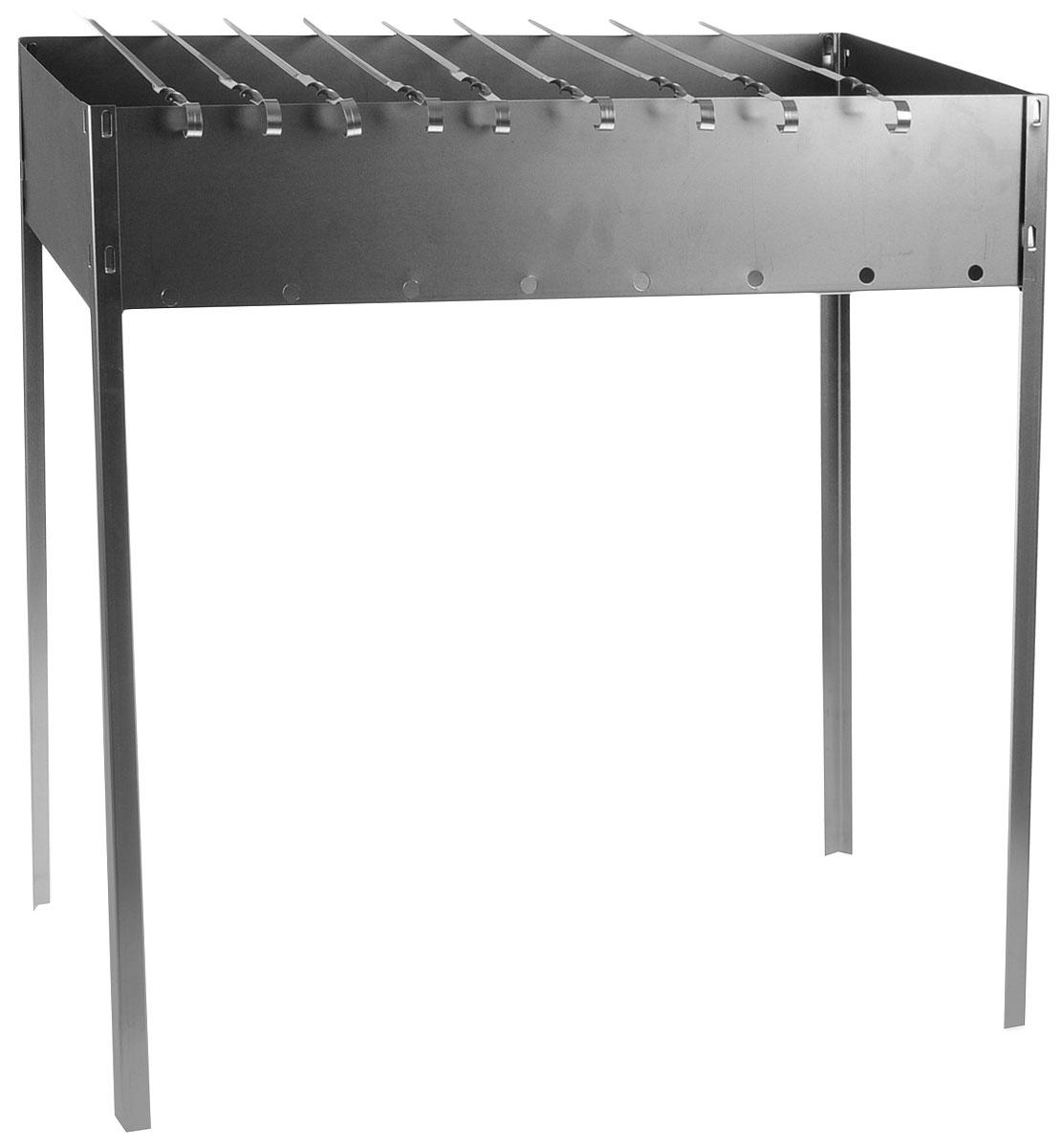 Мангал Бастион-Пром  Шашлычник , складной, с 9 шампурами, 70 х 30 х 70 см - Посуда для приготовления