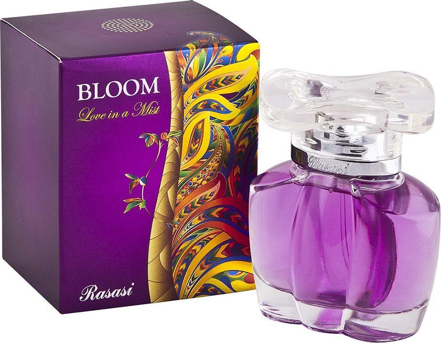 Rasasi Туалетная вода для женщин Bloom love in a mist, 85 мл2218Вашему вниманию фруктовый и цветочный стойкий аромат для женщин со средним шлейфом - Bloom Love in a Mist от Rasasi. В виде парфюмерной воды, который отличается высокой концентрацией аромомасел.Аромат парфюмированной воды Rasasi Bloom Love in a Mist - это воплощение естественной красоты и грации, изящности и романтического настроения молодой женщины. Аромат сочетает в себе приятность восточных специй с цветочными и фруктовыми нотками, вызывая ощущение невероятной легкости и воздушности, подчеркивая простоту, но в то же время красоту. В целом аромат вышел просто замечательным, романтичным и приятным, он превзошел все ожидания почитателей творчества парфюмеров Rasasi. Сразу после распыления 15-20 мин. начинают композицию ноты: лимон, гальбанум и яблоко. Передают эстафету с двадцати минут до 3 часов нотки: роза, жасмин и корица. И, наконец, завершают аромат: белый кедр, амбра и мускус.