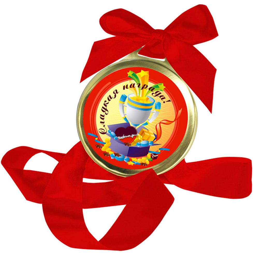 Лакомства для здоровья Сладкая награда медаль Молочный шоколад, 70 гЖ.ШМт5.70-п274Ваш ребенок принес домой пятерку или выучил наизусть стихотворение? Не ждите выпускного бала - подарите медаль за успехи в учебе уже сегодня!Сладкая награда из молочного шоколада не только обрадует юного вундеркинда, но и послужит отличным стимулом для новых свершений. Чем больше таких медалей вы будете дарить вашему ребенку, тем поразительнее будут его победы!
