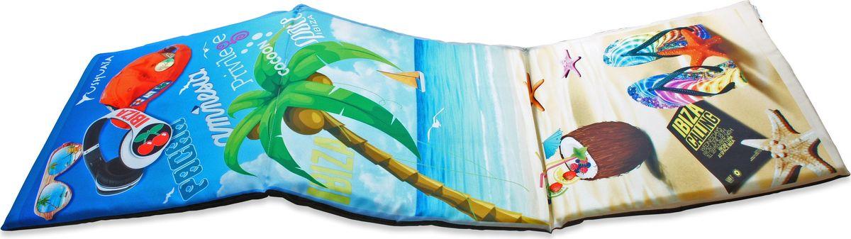 Матрас для шезлонга GiftnHome Ibiza, 40 х 120 см2029653Сидушка лежак Лето на Ибице 3х секционный на поролоновой основе низ: плащевой материал верх: габардин