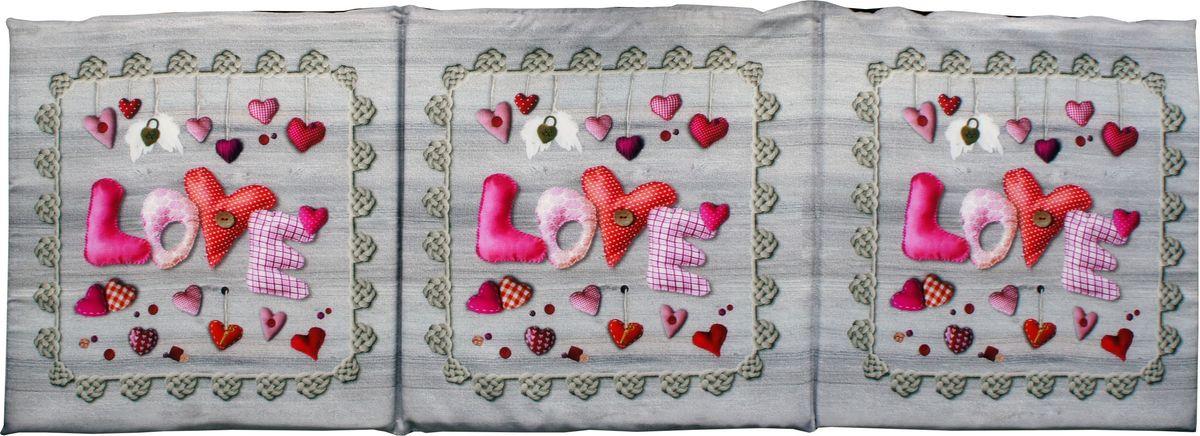 Матрас для шезлонга GiftnHome Love, 40 х 120 см2061313Сидушка лежак Сердечки 3х секционный на поролоновой основе низ: плащевой материал верх: габардин