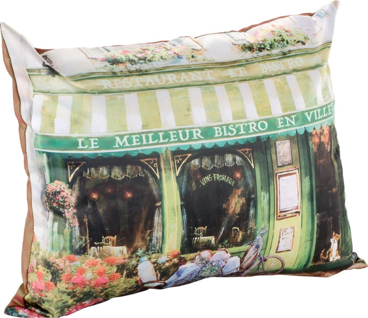 Подушка декоративная GiftnHome Парижское бистро, 30 х 40 см02-V231/1Подушка декоративная Парижское бистро, материал: Атлас, (искусственный шелк). Наволочка на молнии + подушка с синтетическим наполнителем.