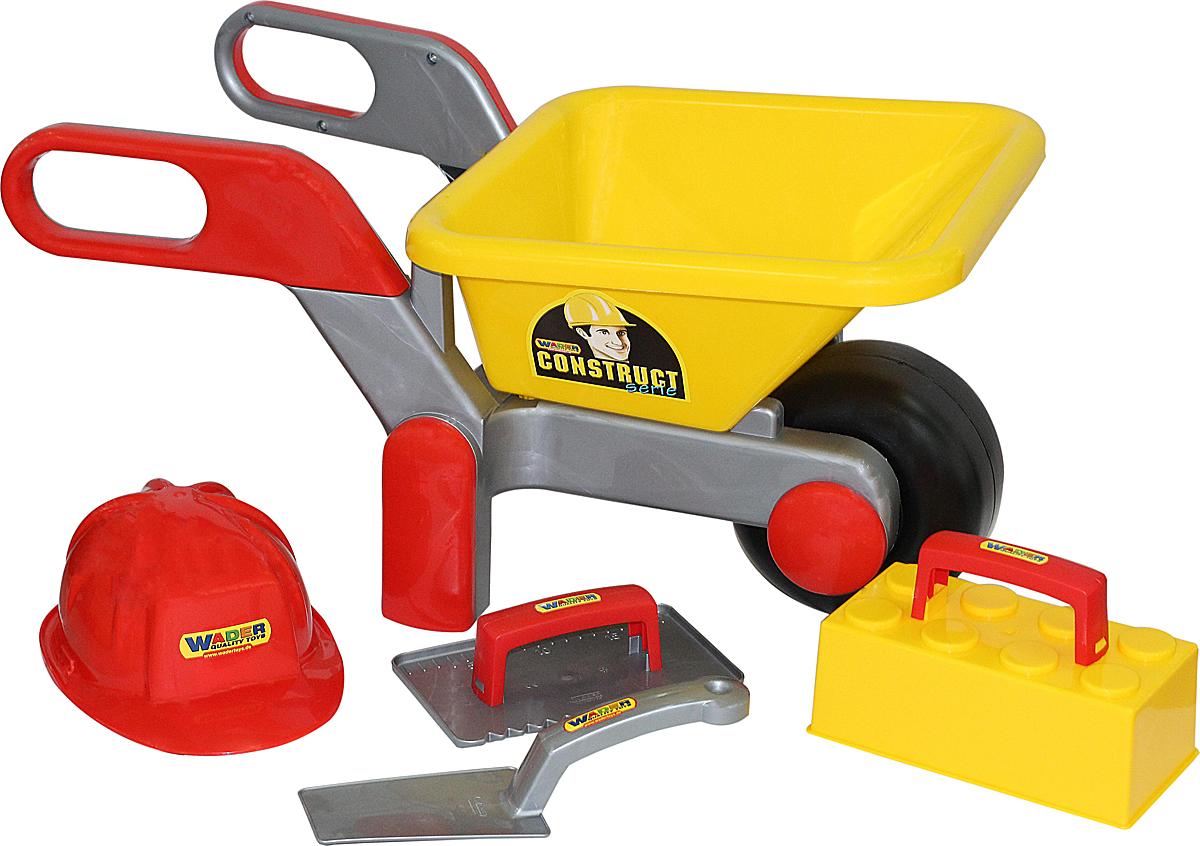 Полесье Игровой набор Каменщик №3 Construct и Тачка №4 Construct - Сюжетно-ролевые игрушки