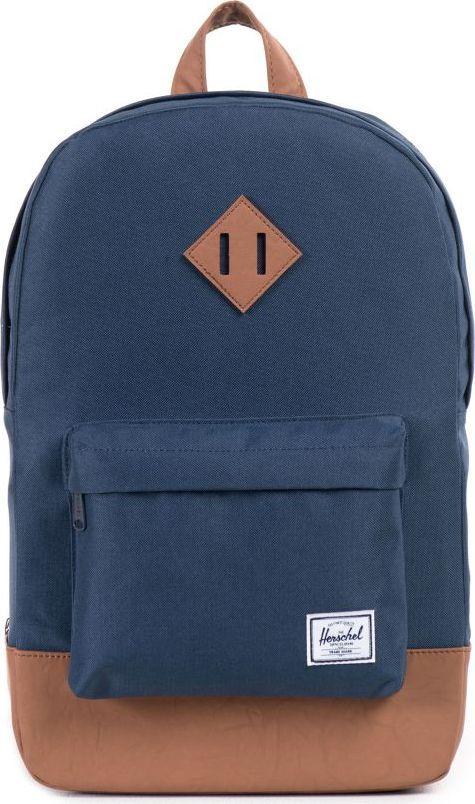 Рюкзак городской Herschel Heritage Mid-Volume, цвет: синий, светло-коричневый, 14,5 л. 10019-00007-OS10019-00007-OSHerschel продолжает радовать своих поклонников качественными аксессуарами, выполненными в лучших традициях качества бренда. Лаконичный дизайн, компактные размеры, широкий ассортимент расцветок, отличная функциональность. Такой рюкзак станет Вашим надежным другом в повседневных делах, а также прекрасно дополнит городской образ.