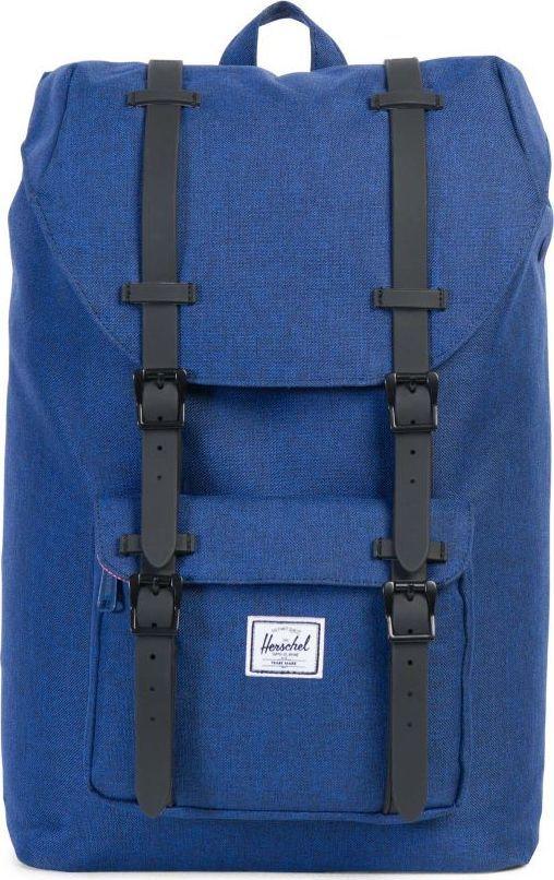 Рюкзак городской Herschel America Mid-Volume, цвет: синий, черный, 17 л. 10020-01335-OS10020-01335-OSУменьшенная копия легендарного рюкзакаLittle America - идеальный городской рюкзак, который отлично подойдет для учебы, работы или небольших путешествий. Удобный, практичный, стильный - все выполнено в лучших традициях качества Herschel!