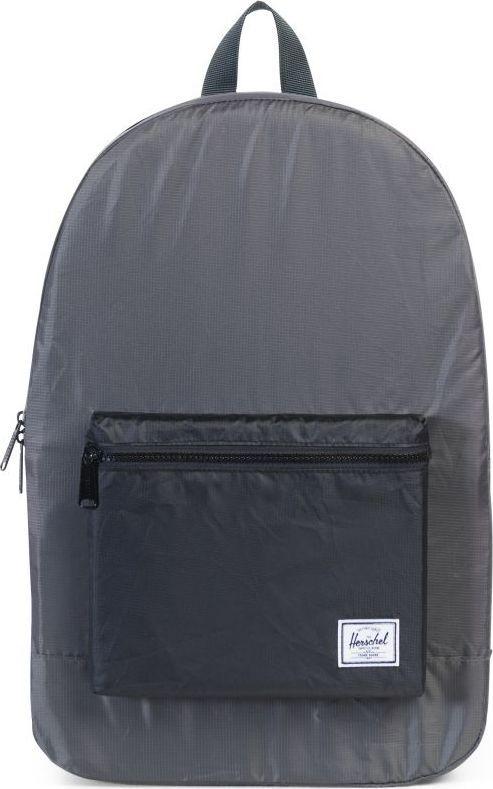 Рюкзак городской Herschel Packable Daypack, цвет: серый, черный, 24,5 л. 10076-01413-OSУТ-000071902Herschel Packable Daypack больше, чем рюкзак благодаря тому, что легко сворачивается в свой собственный карман, занимая минимум места в сложенном виде. Этот рюкзак можно без особых проблем захватить с собой в путешествие или на прогулку по городу и он будет занимать минимум места, пока не понадобится его полезный объем в целых 24,5 литра.
