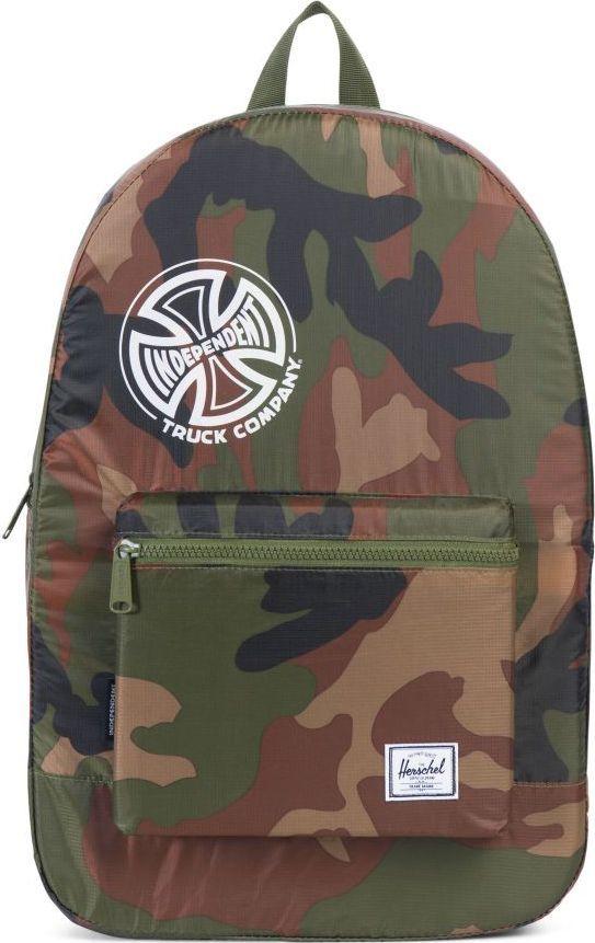 Рюкзак городской Herschel Packable Daypack, цвет: камуфляж, 24,5 л. 10076-01568-OSУТ-000057663Herschel Packable Daypack больше, чем рюкзак благодаря тому, что легко сворачивается в свой собственный карман, занимая минимум места в сложенном виде. Этот рюкзак можно без особых проблем захватить с собой в путешествие или на прогулку по городу и он будет занимать минимум места, пока не понадобится его полезный объем в целых 24,5 литра.